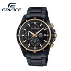 安心2年保証 CASIO カシオ EDIFICE エディフィス マットブラック×ゴールド EFR-526BK-1A9 クロノグラフ 100M防水 メンズ 男性用腕時計  黒・金