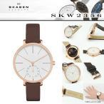 スカーゲン SKAGEN 腕時計 SKW2356 HAGEN ハーゲン 34mm ホワイト ローズゴールド ダークブラウンレザー レディースウォッチ ウルトラスリム ultra slim