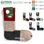 ショッピングソックス (ラソックス) rasox 靴下 ソックス パネルミックス クルー レディース メンズ (CA162CR02)