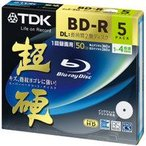 ★ BRV50HCPWB5A(4906933601757)TDK 超硬 4倍速録画用BD-R DL ブルーレイディスク ホワイト 5枚