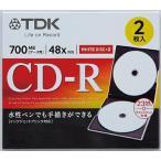 ��TDK��CD-R80PWD2A-H��4906933605311�ˡ��ǡ�����CD-R 2���� �ۥ磻��