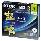 ★BRV25HCPWB5A(4906933601702)TDK 録画用ブルーレイ 超硬シリーズ BD-R 25GB 1-4倍速 ホワイトワイド 5枚パック 5mmスリム