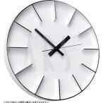 ショッピング壁掛け 壁掛け時計 ウォールクロック レムノス アズミ edge clock 電波時計 オシャレ 北欧 おしゃれ シンプル アンティーク モダン モノトーン 木製 インテリア 高級