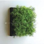 人工観葉植物の壁掛け リーフアートパネル ウォールグリーン 1B ブラウン