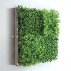 人工観葉植物の壁掛け リーフアートパネル ウォールグリーン 4B ホワイト
