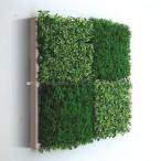 人工観葉植物の壁掛け リーフアートパネル ウォールグリーン 4C ホワイト