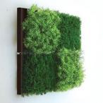 人工観葉植物の壁掛け リーフアートパネル ウォールグリーン 4A ブラウン