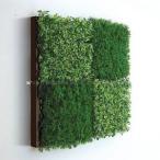 人工観葉植物の壁掛け リーフアートパネル ウォールグリーン 4C ブラウン
