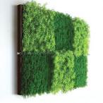 人工観葉植物の壁掛け リーフアートパネル ウォールグリーン 6A ブラウン