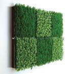 人工観葉植物の壁掛け リーフアートパネル ウォールグリーン 6C ブラウン