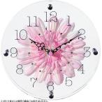 STARLINE スターライン STW-1188PK ピンク アートフラワー置き時計
