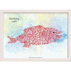 アートパネル アートポスター 絵画 インテリア 壁掛け タペストリー アートフレーム ウォールアート パネル レオ レオニ Swimmy Giant Fish 北欧 おしゃれ