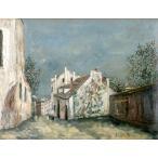 【送料無料】絵画:モーリス・ユトリロ「ミミパンソンの家 モンスニ通り」●サイズF20(72.7×60.6cm)●絵画(油絵複製画)オーダーメイド制作