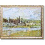 モネ/巨匠/Vetheuil Sur Seine1880(絵画・インテリア)