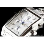 セイコーSEIKO海外パルサーPULSARホワイト角型クロノグラフ腕時計