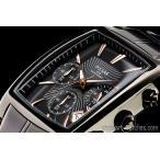 セイコー米国PULSAR逆輸入パルサー角型ブラック&ゴールド新品クロノグラフ腕時計