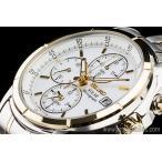 セイコー海外SEIKO ソーラーゴールド&シルバー 新品アラームクロノグラフ腕時計