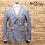 春夏 BOTTEGA MARTINESE イタリー製アンコン風ジャケット 綿麻ツイル織 ダブル 涼しい きれいめ プレゼント 30代 40代 50代 紳士 メンズ 上着