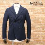 春夏 BOTTEGA MARTINESE Italy製アンコンジャケット メッシュ編み ポリ サマーウール系 ピークドラペル 無地 英国調 30代 40代 フォーマル メンズ 紳士