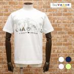 20春夏 VAGIIE 日本製Tシャツ なめらか天竺ジャージー UVカット マンモス&クマちゃん刺繍 かわいい 半袖 大人カジュアル プレゼント メンズ バジエ
