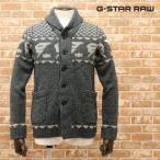 秋冬 G-STAR RAW カウチンニット DRAHA CARDIGAN KNIT L/S 86578F-5605-980 ネイティブ調 ウール系ミドルゲージ ほっこり サーフ エスニック メンズ