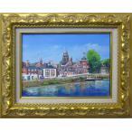 絵画 油絵 竹内敏彦 肉筆油絵 風景画 イギリスの風景 送料無料