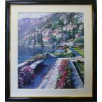 絵画 アートポスター ハワード バーレンズ 地中海の景色 送料無料