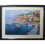 絵画 ハワード バーレンズ アートポスター 地中海の港 送料無料