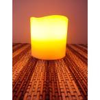 SALE LED キャンドル ライト 円柱S ロウの質感 揺れる灯り   家具、インテリア  照明器具  卓上スタンド   キャンドル