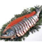 御歳暮にも 北海道雄武産 天然新巻鮭姿造り切り身     食品 魚介類 海産物 鮭 サーモン 新巻鮭 サケ シャケ