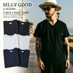 SILLY GOOD by the CRIMIE  Tシャツ V NECK 2PACK T-SHIRT 2枚パック
