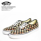バンズ スニーカー VANS Authentic (Checkerboard) Camo Desert/True White