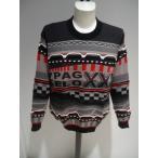 PAGELO メンズ/秋冬/50%OFF/デザイン セーター/LL サイズ/ブラック/大きいサイズ/日本製/紳士服/現品限り/SALE品