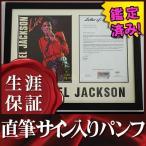 直筆サイン入りライブパンフレット アニー another part of me 等 マイケルジャクソン Michael Jackson グッズ /ブロマイド オートグラフ /鑑定済 フレーム付き