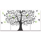 USART アートパネル 壁掛け ファブリックパネル TREE&BIRD W100cm H50cm D2cm SIZE/L 3枚セット 横長 絵 新築 壁絵 飾り 装飾 壁 軽量 軽い Print on Canvas