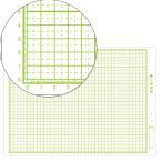 片面白ダンボール紙 方眼付 四つ切判 100枚組 【 工作 紙 方眼 造形 製作 】