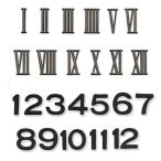 文字符 12文字セット ABS樹脂製 【 時計機械 夏休み 工作 時計作り 木工 文字盤 】