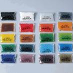 クラフトビーズ ガラス 20色セット 各10g 袋入 【 工芸 ガラス 七宝焼 フリット 粒絵の具 】