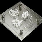 表札 ステンレス表札 正方形 おしゃれなアクリルプレート表札 家紋表札 H20