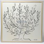 アンリ・マティス: 低木 木製額付きポスター(2016年度600枚限定制作のリトグラフ使用)