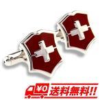 Cuff - カフスボタン カフリンクス 盾 クロス シールド レッド(赤) メンズジュエリー・アクセサリー カフス