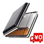 20本用 シガレットケース メンズ 両面スムース レザー調 革調 黒色 たばこケース 煙草ケース タバコケース