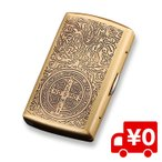 コンスタンティン風 アンティーク シガーケース シガレットケース ゴールド シガレット たばこ 入れ ケース 収納 プレゼント
