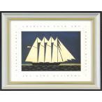 ウォーレン・キンブル『Sailing Ship』複製画 【絵画 額付 新品 版画】