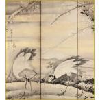 色紙 林和靖図屏風 /曾我蕭白 筆