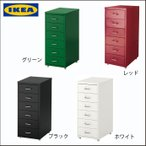 IKEA/イケア オフィスチェストキャスター付き 6段収納 デスク脇机 サイドデスク キャビネット収納 サイドデスク チェスト
