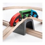 IKEA イケア 木製電車セット 木のおもちゃ 知育玩具