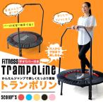 トランポリン 子供 大人用 家庭用 ダイエット 耐荷重110kg 手すりバー付き