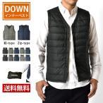 ダウンベスト インナーダウンベスト ボタン ファスナー 2タイプ 防寒 ジャケット メンズ セール