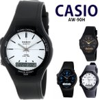CASIO カシオ スタンダード 腕時計 アナデジ メンズ レディース キッズ チープカシオ チプカシ AW-90H-2B AW-90H-7B AW-90H-7E AW-90H-9E